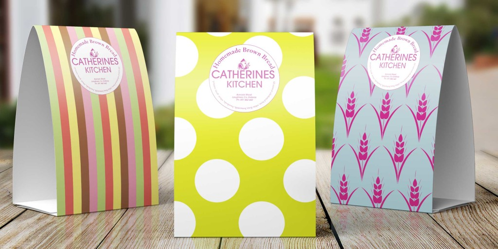 Catherine's Kitchen tent tag graphics