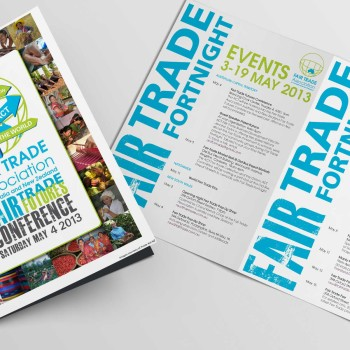 Graphic design for fair trade events