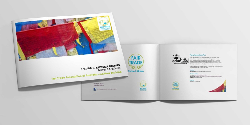 Fair trade networks brochure design