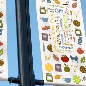 Trade banner signage