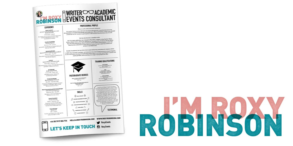 Roxy Robinson infographic CV design