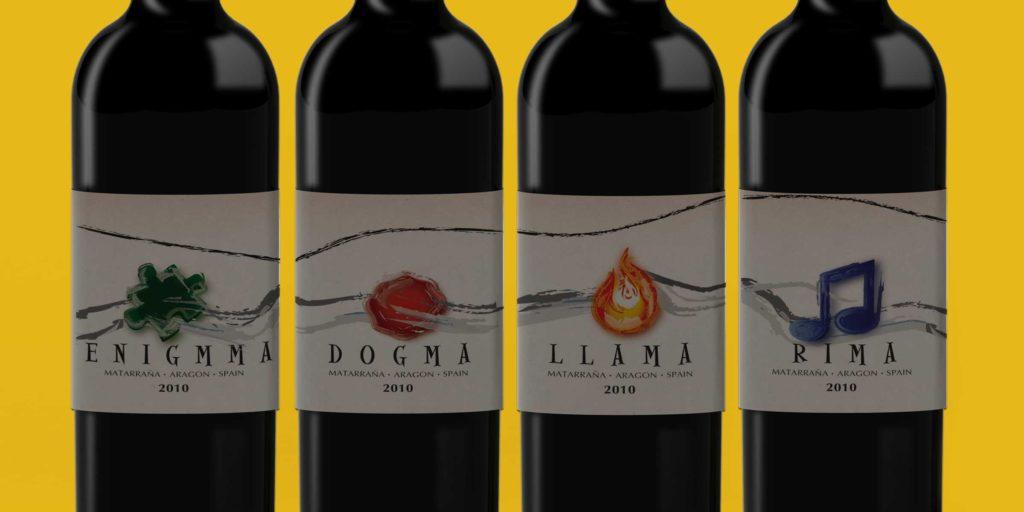 Wine Label Designs Hand Drawn By One Line Studio