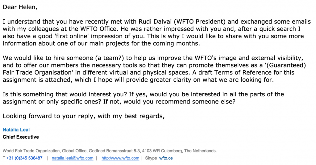 WFTO Email